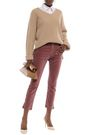 3x1 Cropped cotton-blend velvet slim-leg pants
