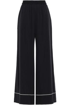DOLCE & GABBANA Silk-blend wide-leg pants