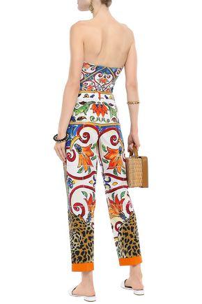 DOLCE & GABBANA Cotton-poplin tapered pants
