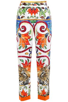 DOLCE & GABBANA Cotton-poplin tapered pants