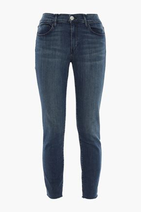 3x1 Cropped faded mid-rise skinny jeans