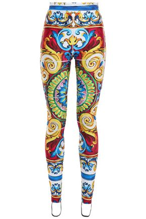 DOLCE & GABBANA Stretch-jersey stirrup leggings