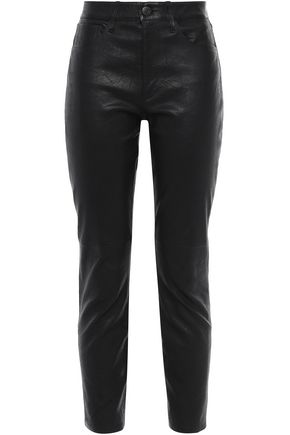 3x1 Leather slim-leg pants