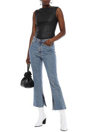 KSUBI Distressed high-rise kick-flare jeans