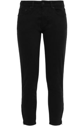 KSUBI Cropped cotton-blend twill skinny pants