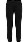 KSUBI Cropped cotton-blend twill skinny pants