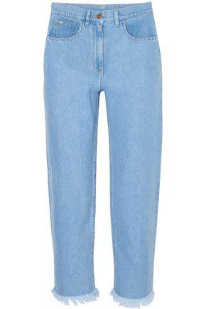 NANUSHKA Rupawa frayed high-rise straight-leg jeans