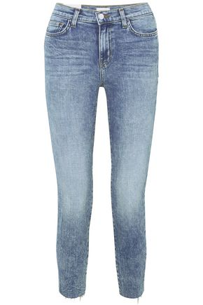 L'AGENCE Faded high-rise slim-leg jeans