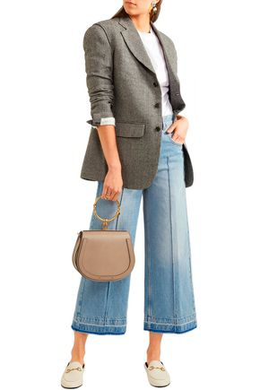 Isabel Marant Étoile Cabrio Cropped High-rise Wide-leg Jeans In Light Denim