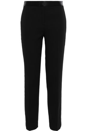 TORY BURCH Satin-crepe tapered pants