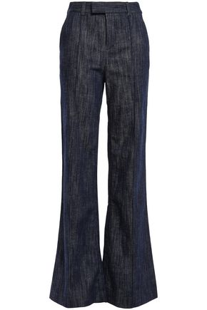 JOIE Sylvana faded high-rise flared jeans