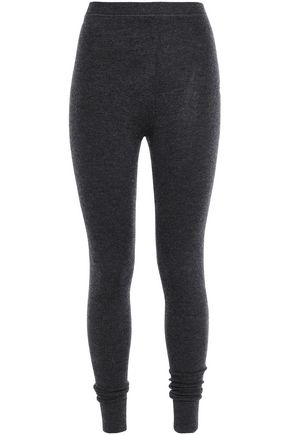 N.PEAL Cashmere and silk-blend leggings
