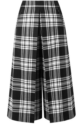 ALEXANDER WANG Checked wool culottes