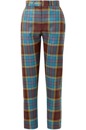 HOUSE OF HOLLAND Checked wool straight-leg pants
