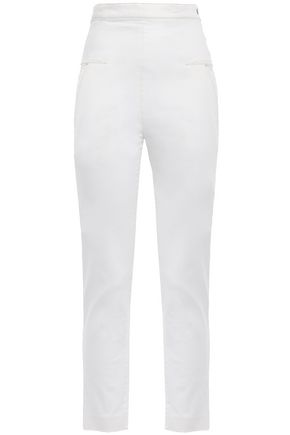 CHALAYAN Cropped high-rise skinny jeans