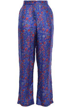 468d2d911 ANTIK BATIK Floral-print silk crepe de chine straight-leg pants