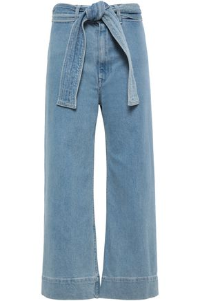 APIECE APART Cropped high-rise wide-leg jeans