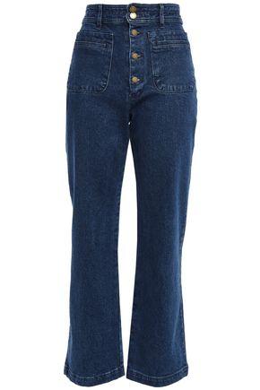 APIECE APART Button-detailed high-rise straight-leg jeans