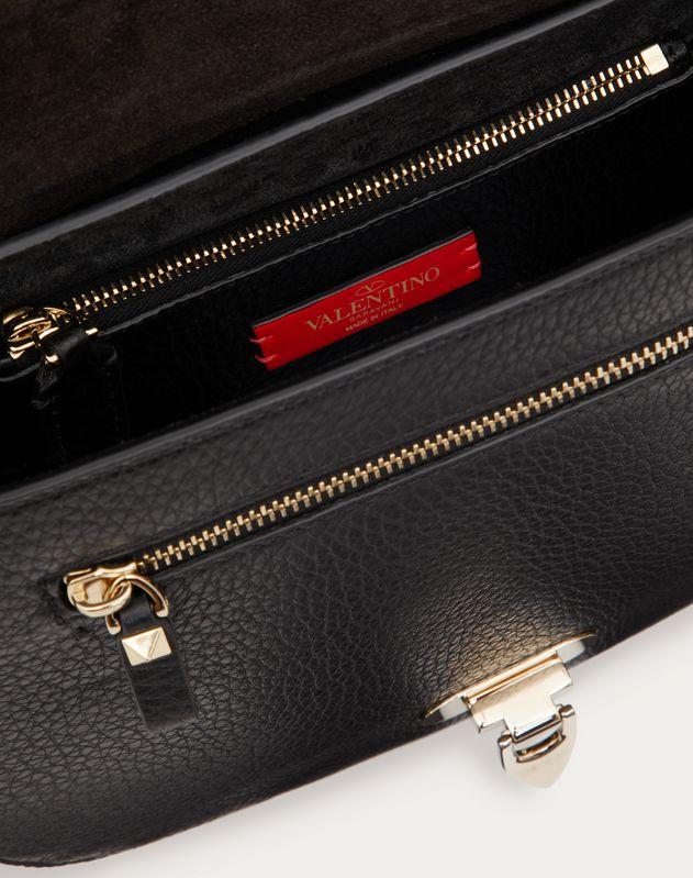Rockstud Grainy Calfskin Crossbody Bag