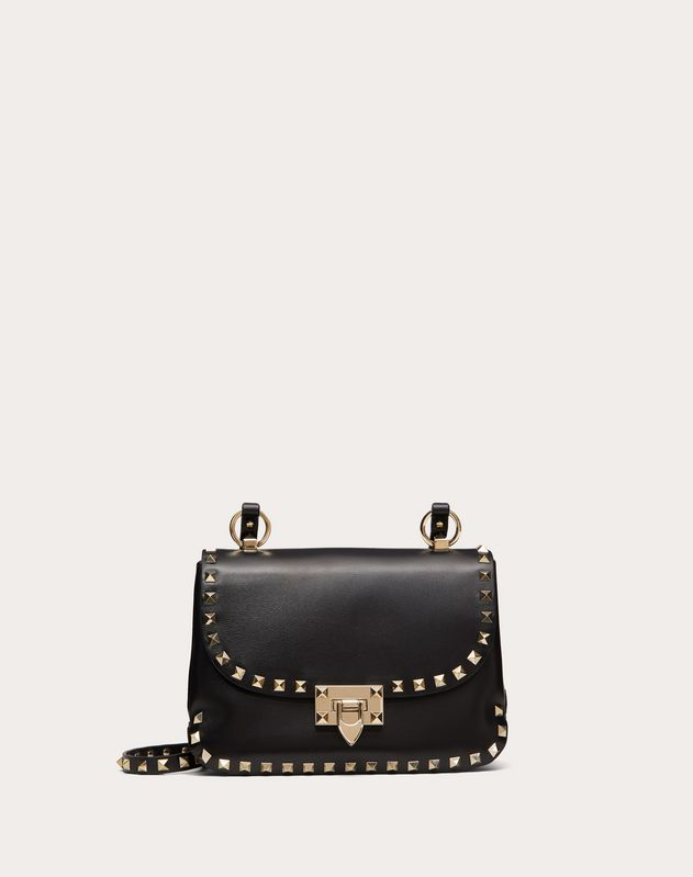 Small Rockstud Smooth Calfskin Crossbody Bag