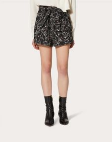 Undercover Print Crêpe Couture Shorts