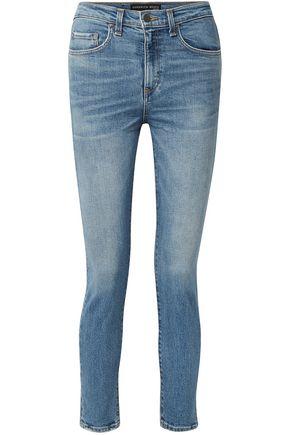 VERONICA BEARD Faded high-rise skinny jeans