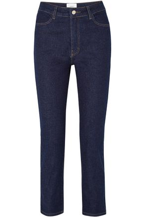 CASASOLA Cropped high-rise straight-leg jeans