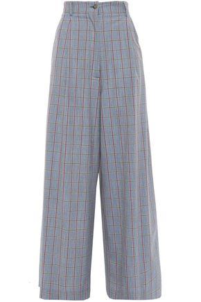 STELLA JEAN Checked woven wide-leg pants