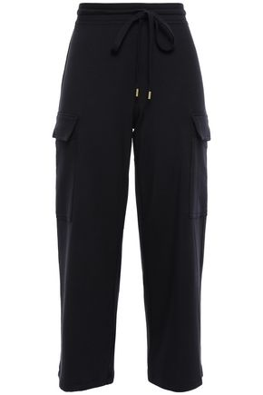 BAILEY 44 Cropped stretch-modal jersey wide-leg pants