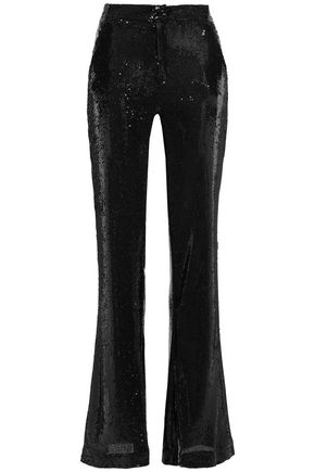 AINEA Sequined woven flared pants