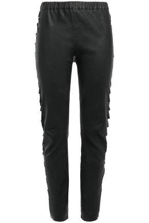 HAIDER ACKERMANN Laser-cut stretch-leather leggings