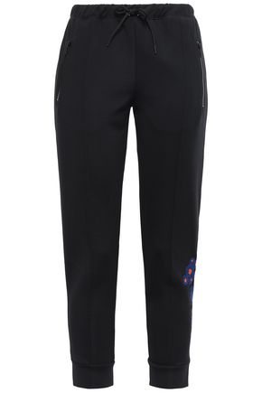 ÊTRE CÉCILE Embroidered jersey tapered pants