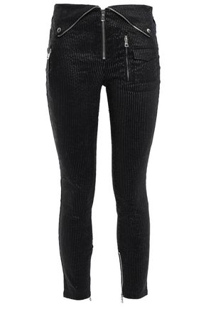 RTA Coated cotton-blend skinny pants