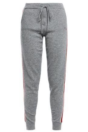 CHINTI & PARKER Ringmaster striped wool and cashmere-blend track pants