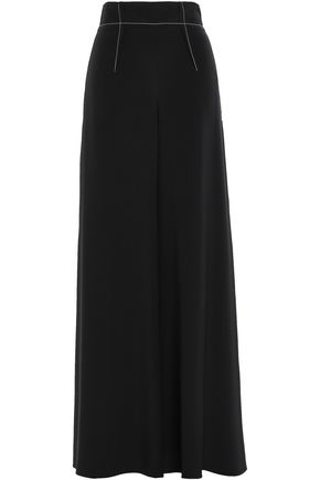 CUSHNIE Silk-cady wide-leg pants