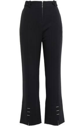MUGLER Embellished stretch-crepe tapered pants