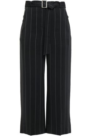 MUGLER Cropped crepe wide-leg pants