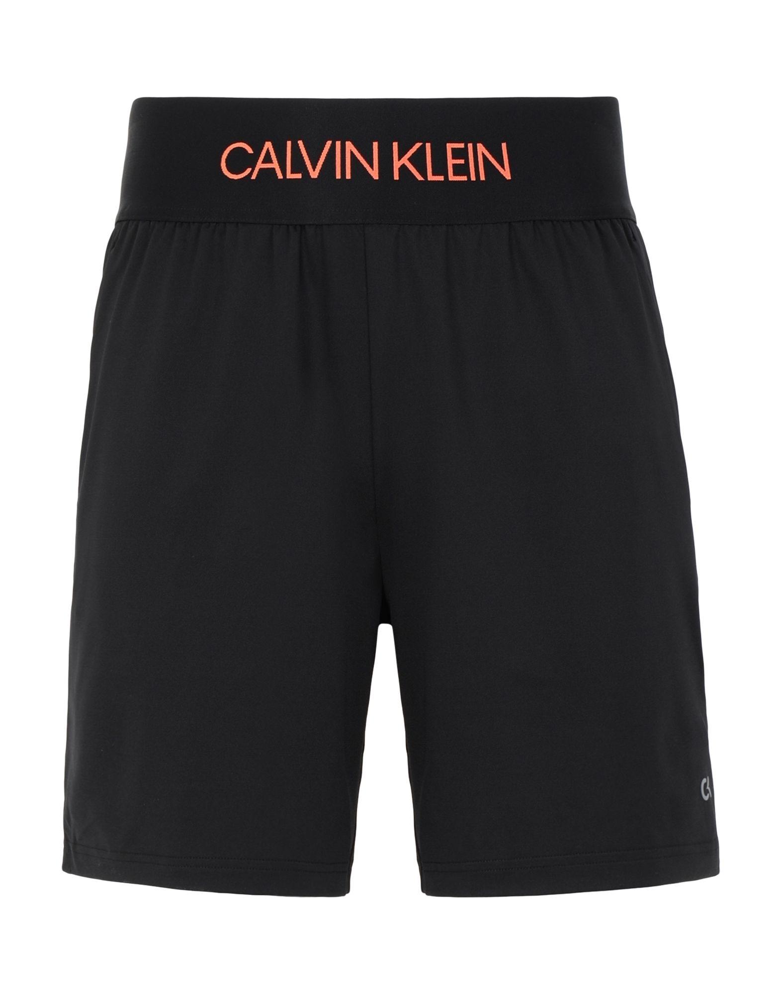 """《セール開催中》CALVIN KLEIN PERFORMANCE メンズ バミューダパンツ ブラック S ポリエステル 84% / ポリウレタン 16% """"7"""" WOVEN SHORT """""""