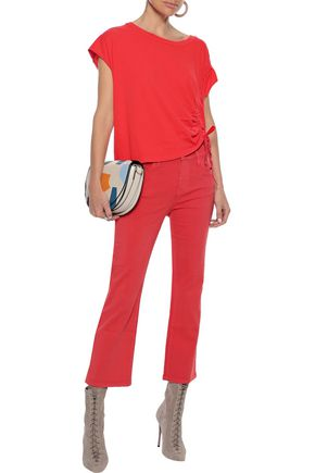 Current Elliott Current/elliott Woman The Kick High-rise Kick-flare Jeans Coral