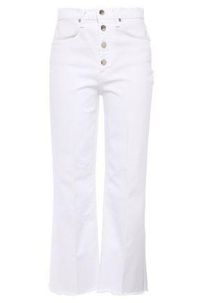 RAG & BONE Justine frayed high-rise bootcut jeans