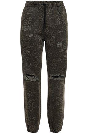 ALEXANDER WANG French cotton-terry track pants