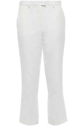 ROBERTO CAVALLI Cropped twill straight-leg pants