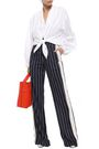 TOME Striped woven wide-leg pants