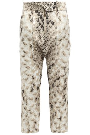 ROBERTO CAVALLI Cropped silk tapered pants
