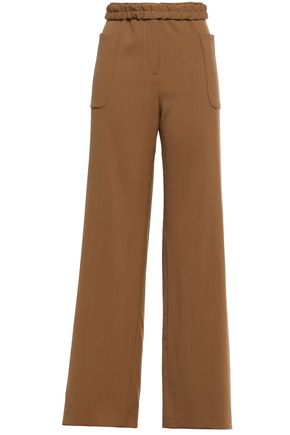 JIL SANDER Wool-crepe wide-leg pants