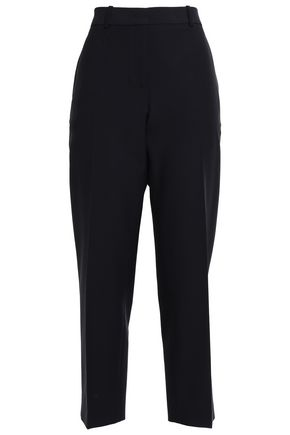 JIL SANDER Cropped twill straight-leg pants