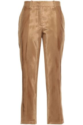 JIL SANDER Cropped faux fur tapered pants