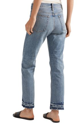 HELMUT LANG Faded high-rise straight-leg jeans