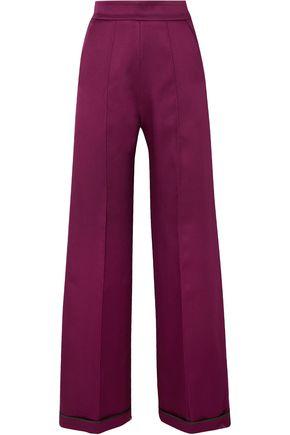 SID NEIGUM Bonded satin wide-leg pants