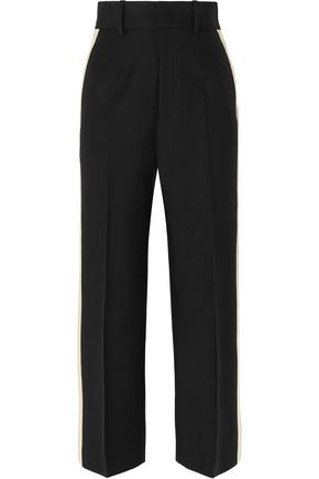 HELMUT LANG Striped woven straight-leg pants